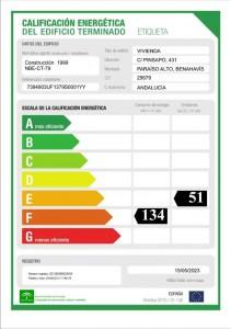 Energy-certificate property in Spain