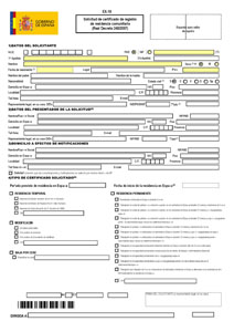 Form for Spanish Residency